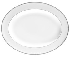 """Monique Lhuillier Waterford Dinnerware, 13.5"""" Dentelle Platter"""