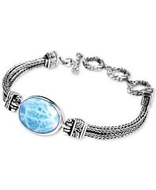 Larimar Multi-Strand Bracelet in Sterling Silver