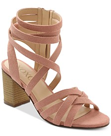 XOXO Eden Block-Heel Dress Sandals