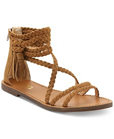 XOXO Cancun Braided Flat Sandals