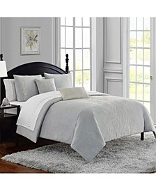 Dorothy Cotton Slub Embroidered 3Pc King Comforter Set
