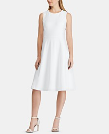 Lauren Ralph Lauren Sleeveless Jersey Fit-and-Flare Dress