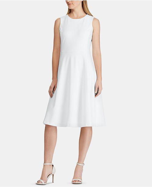 Lauren Ralph Lauren Sleeveless Jersey Fit-and-Flare Dress