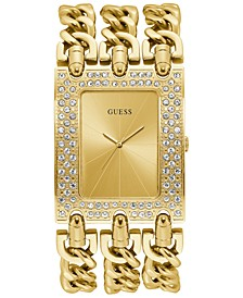 Gold-Tone Stainless Steel Chain Bracelet Watch 39x47mm