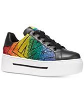 a98d256e537 MICHAEL Michael Kors Ashlyn Rainbow Flatform Sneakers