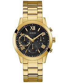 GUESS Men's Gold-Tone Stainless Steel Bracelet Watch 40mm