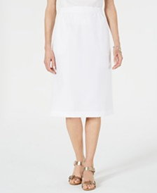 Alfred Dunner Classic Pull-On Skirt