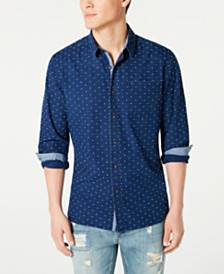American Rag Men's Regular-Fit Dot Dobby Shirt, Created for Macy's
