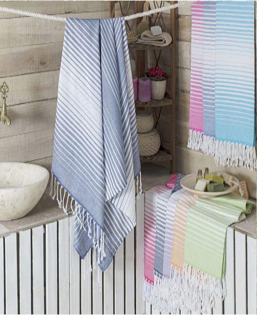 Enchante Home Rainbow Pestemal Fouta Turkish Cotton Beach Towel