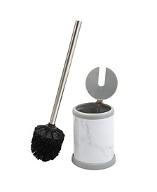 Bath Bliss Self Closing Lid Toilet Brush and Holder