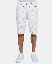 Sean John Men's Playboy Collection Printed Drawstring Shorts