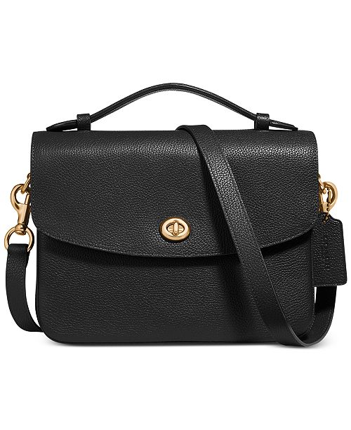 efd38bebf7 Cassie Crossbody In Polished Pebble Leather