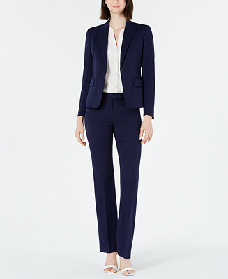 Blazer, Split Neck Blouse & Twill Pants by General