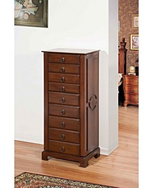 8-Drawer Jewelry Armoire