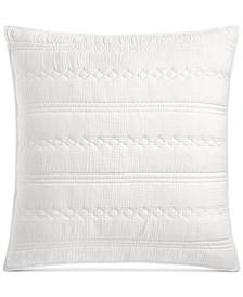 Crinkle Gauze Cotton European Sham, Created for Macy's