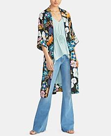 Glenna Floral-Print Kimono