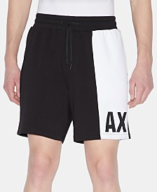 A|X Armani Exchange Men's Colorblocked Base Shorts
