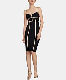 Contrast-Piping Bodycon Dress