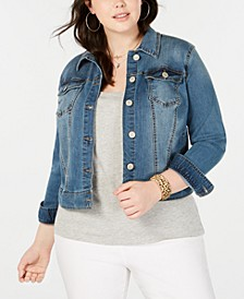 Trendy Plus Size Denim Jacket