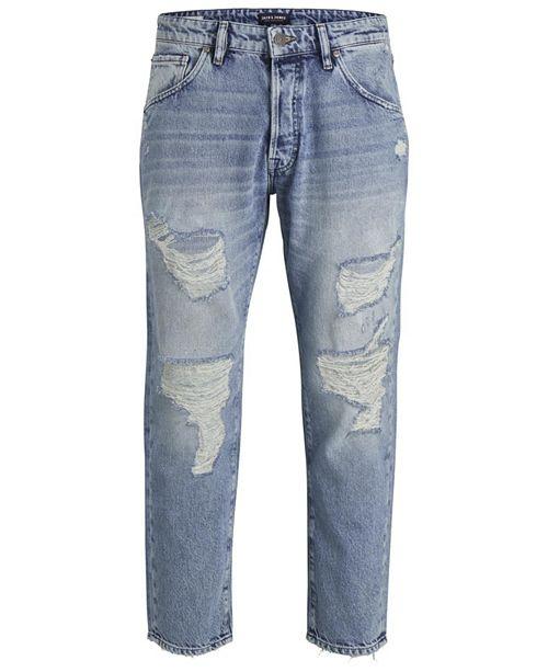 Jack & Jones Jack and Jones Men's Tapered Fit Destroyed Style Fred Jeans