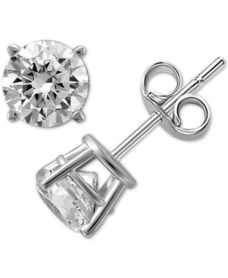 Diamond Stud Earrings in 14k White Gold (1 ct. t.w.)