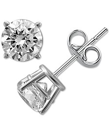 Diamond Stud Earrings (1/4 ct. t.w.) in 14k White or Yellow Gold