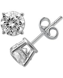 Diamond Stud Earrings (1/4 to 1 ct. t.w.) in 14k White or Yellow Gold