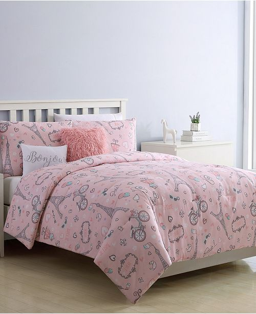 VCNY Home When I Am In Paris 4-Pc. Twin Comforter Set