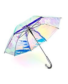 Iridescent Auto Open Stick Umbrella