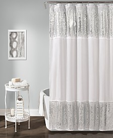 """Shimmer Sequins 72""""x70"""" Shower Curtain"""