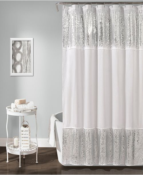 "Lush Decor Shimmer Sequins 72""x70"" Shower Curtain"