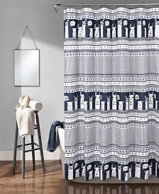 "Llama Stripe 72"" x 72"" Shower Curtain"