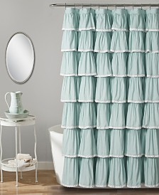 "Lace Ruffle 72"" x 72"" Shower Curtain"