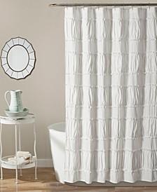 """Nova Ruffle 72"""" x 72"""" Shower Curtain"""
