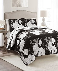 Zinnia Floral 3Pc King Quilt Set