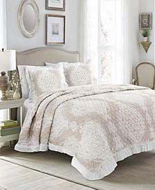 Lucianna Ruffle Edge Cotton 3Pc King Bedspread Set