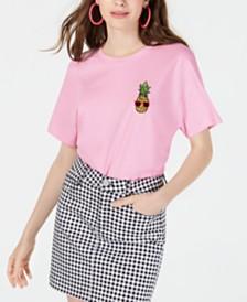 Rebellious One Juniors' Pineapple Graphic T-Shirt