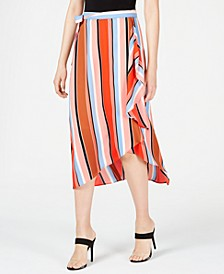 Printed Multi-Stripe Midi Skirt, Created for Macy's