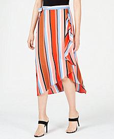 Bar III Printed Multi-Stripe Midi Skirt, Created for Macy's