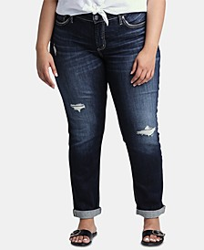 Trendy Plus Size Ripped Boyfriend Jeans