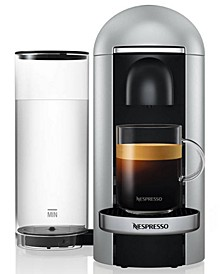 VertuoPlus Bundle Coffee & Espresso Maker by Breville, Silver