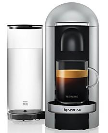 Nespresso VertuoPlus Deluxe Bundle Coffee & Espresso Maker by Breville, Silver