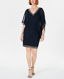 Embellished Overlay Sheath Dress