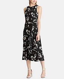 Floral-Print Jersey Midi Dress