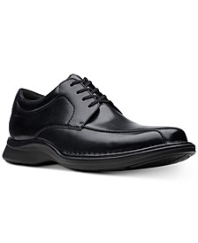 Men's Kempton Run Black Leather Dress Casual Lace-Up Shoes