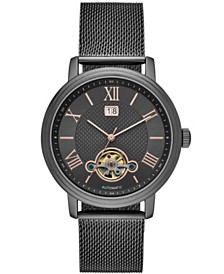 Folio Mens Gunmetal Mesh Automatic Watch 42mm