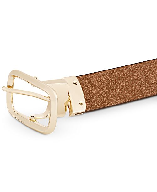01accb994325f Michael Kors Reversible Checkerboard Leather Belt & Reviews ...
