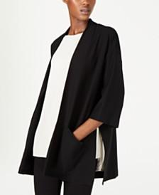 Eileen Fisher Side-Slit Kimono Cardigan