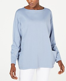 Eileen Fisher Boat-Neck Tunic, Regular & Petite