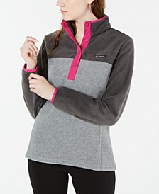 Benton Springs Snap-Front Colorblocked Top